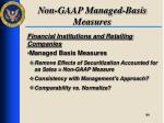 non gaap managed basis measures2
