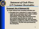 statement of cash flows l t customer receivables2