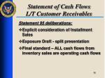 statement of cash flows l t customer receivables3
