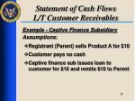 statement of cash flows l t customer receivables5