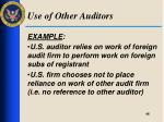 use of other auditors