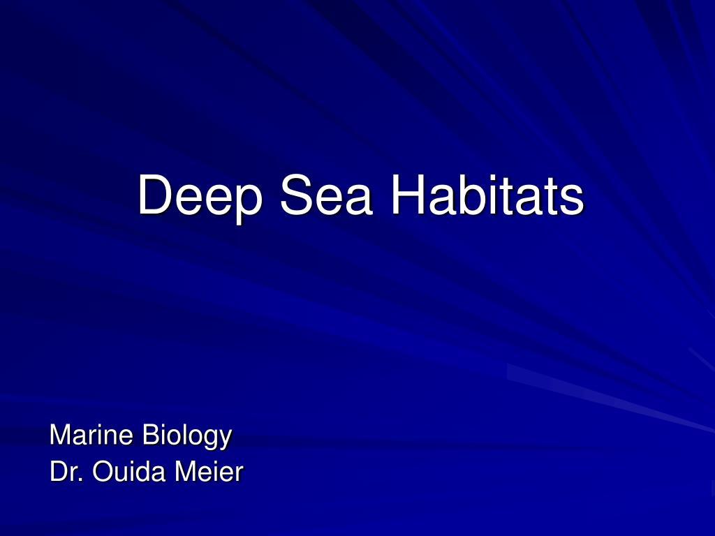deep sea habitats l.
