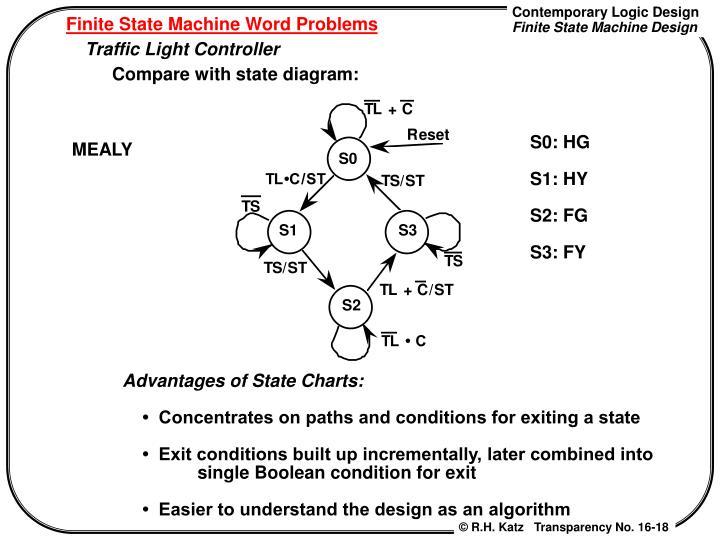 Ppt chapter 8 finite state machine design 85 finite state finite state machine word problems ccuart Image collections