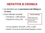 hepatitis b cronica