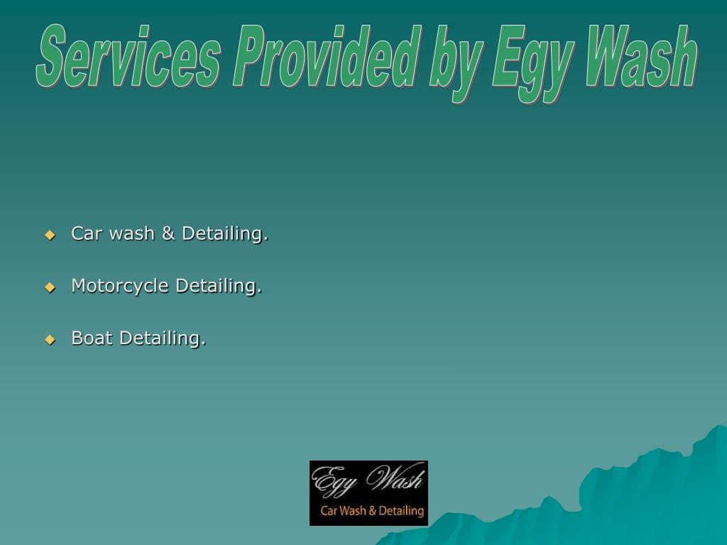 Services Provided by Egy Wash