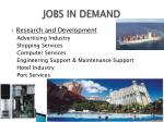 jobs in demand