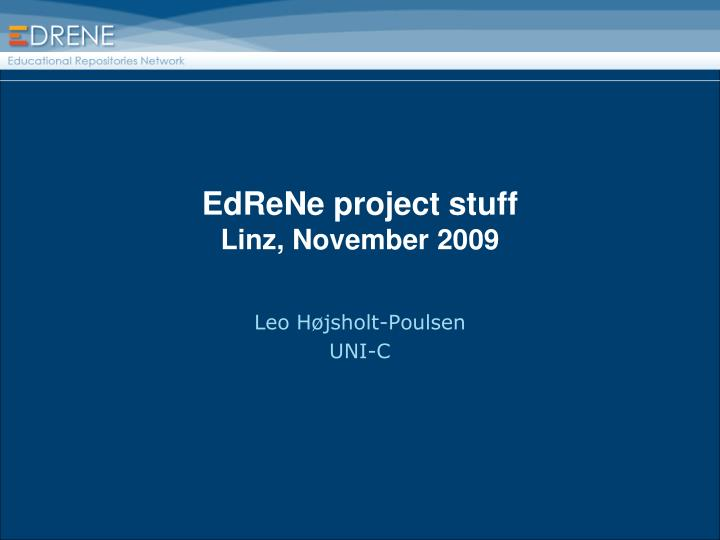 edrene project stuff linz november 2009 n.