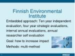 finnish environmental institute