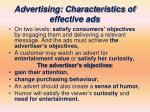 advertising characteristics of effective ads