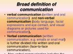 broad definition of communication