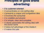 principles of good brand advertising