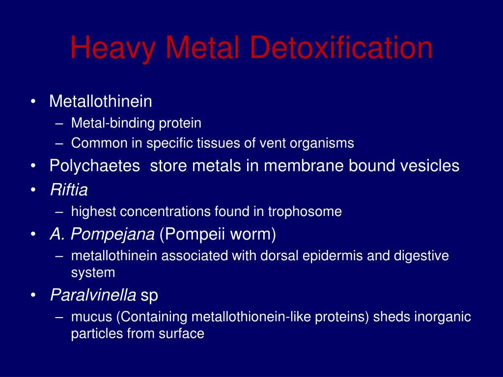 Heavy Metal Detoxification