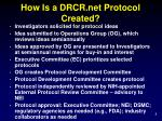 how is a drcr net protocol created