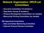 network organization drcr net committees