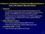 protocol l evaluation of visual acuity measurements in eyes with diabetic macular edema