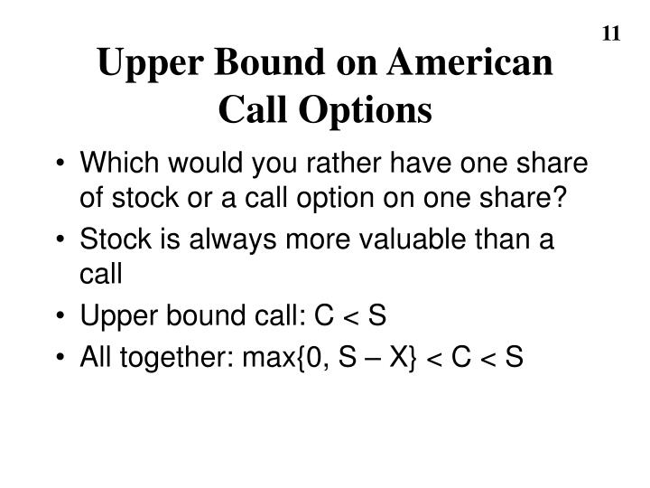 Upper Bound on American