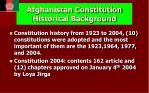 afghanistan constitution historical background