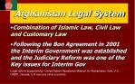 afghanistan legal system