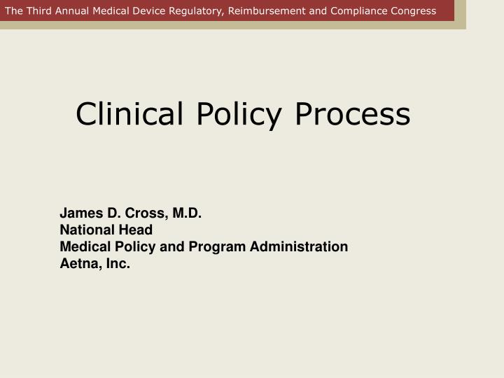 clinical policy process n.