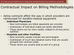 contractual impact on billing methodologies