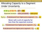 allocating capacity to a segment under uncertainty3