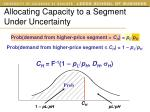 allocating capacity to a segment under uncertainty4