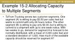 example 15 2 allocating capacity to multiple segments
