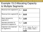 example 15 2 allocating capacity to multiple segments3