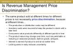 is revenue management price discrimination