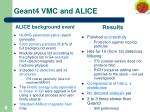 geant4 vmc and alice