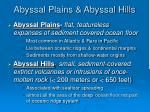 abyssal plains abyssal hills