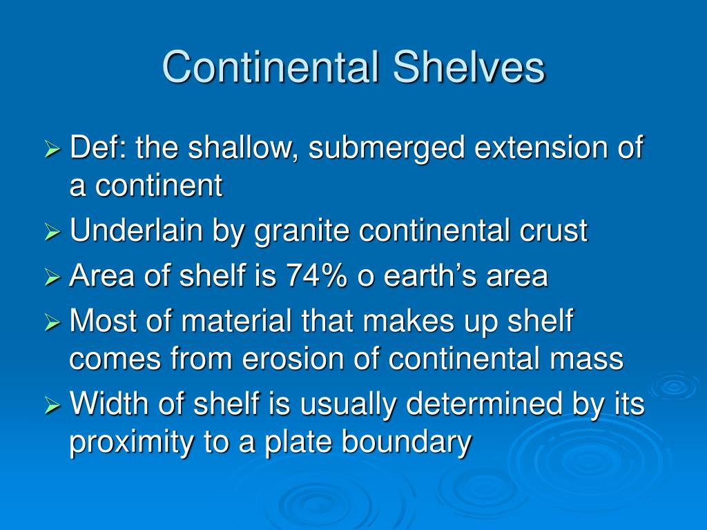 Continental Shelves