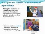 principios del dise o universal para el aprendizaje