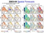 2003 04 spatial forecasts