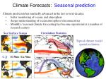 climate forecasts seasonal prediction