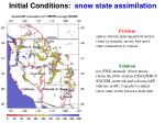 initial conditions snow state assimilation