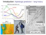 introduction hydrologic prediction long history