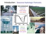 introduction seasonal hydrologic forecasts