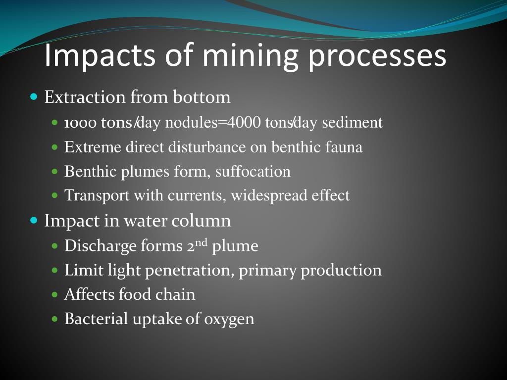 Impacts of mining processes