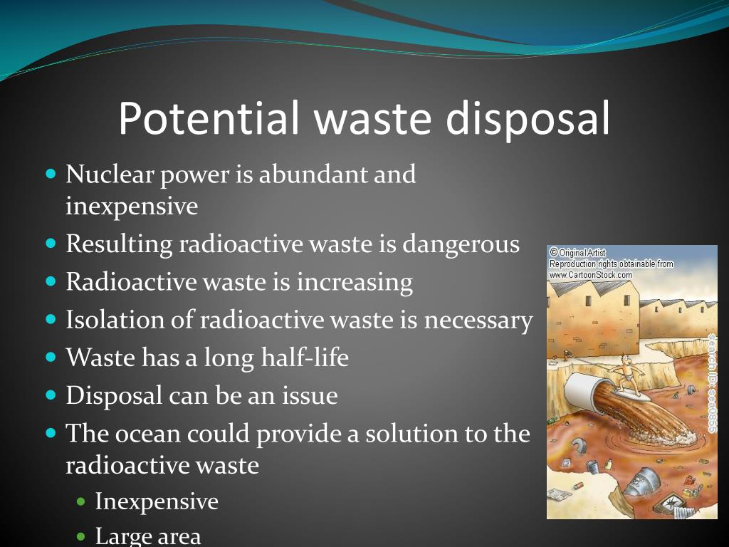 Potential waste disposal