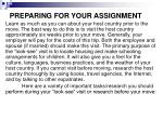 preparing for your assignment