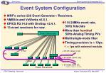 event system configuration