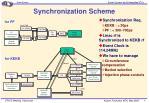 synchronization scheme