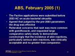 abs february 2005 1