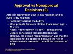 approval vs nonapproval decisions 2