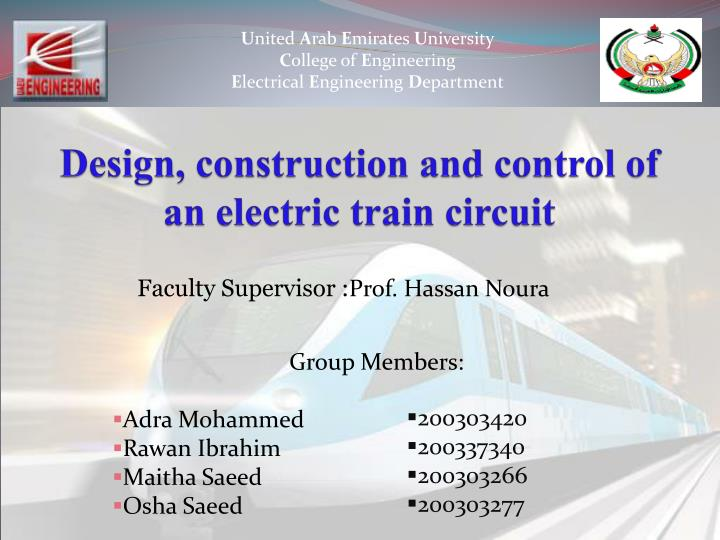design construction and control of an electric train circuit n.