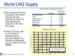 world lng supply