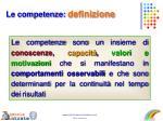 le competenze definizione