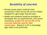 durability of concrete