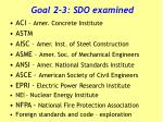 goal 2 3 sdo examined